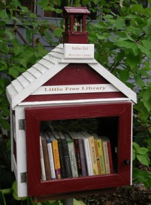The first Little Free Library in Madison, WI. [Photo credit: Lisa Colon DeLay on WordPress]