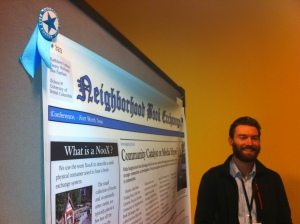 Tenny with our award-winning iConference poster.