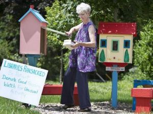 Neighborhood book exchange Steward seeking neighborhood stewardship to help fend off book theft [Photo cred: Tammy Ljungblad]